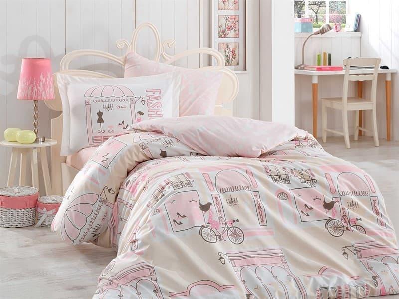 КПБ Hobby Poplin Sonia рожевий 160*220/1*50*70 - фото 6162