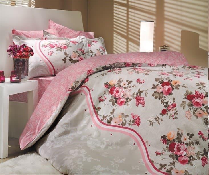 КПБ Hobby Poplin Susana рожевий  200*220/2*50*70 + подарунок 2*70*70 - фото 6177