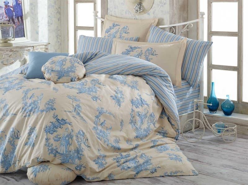 Hobby Poplin Vanessa блакитний 160*220/1*50*70 + подарунок 1*70*70 - фото 6180