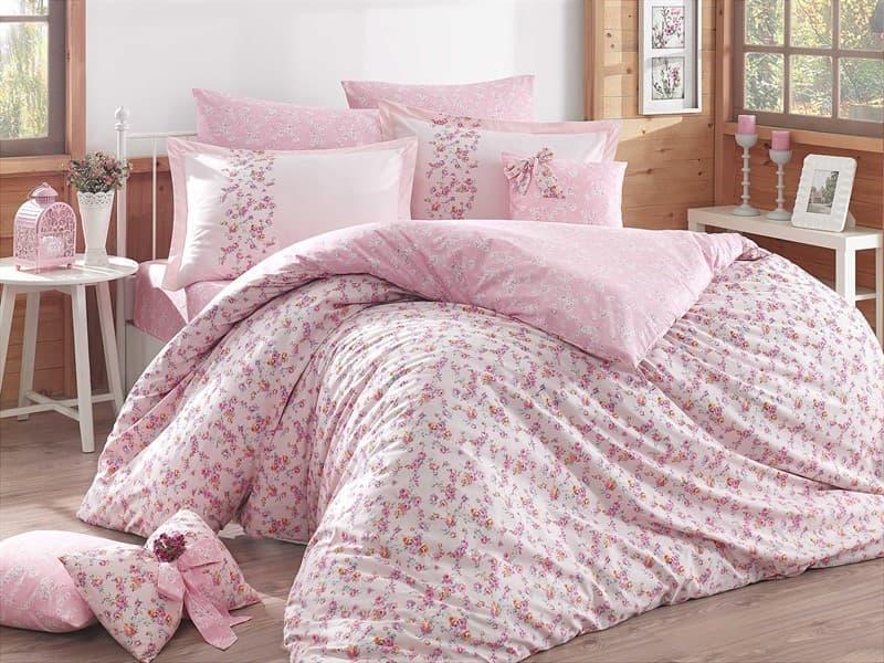 КПБ Hobby Poplin Luisa рожевий 200*220/160*200+25 на рез./2*50*70 - фото 6197