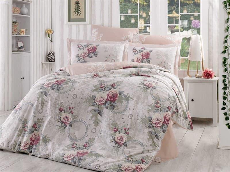 КПБ Hobby Poplin Clementina світло-рожевий 2*160*220/2*50*70 - фото 6203