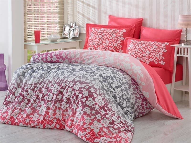 КПБ Hobby Poplin Mira рожевий  2*160*220/2*50*70+2*70*70 - фото 6209