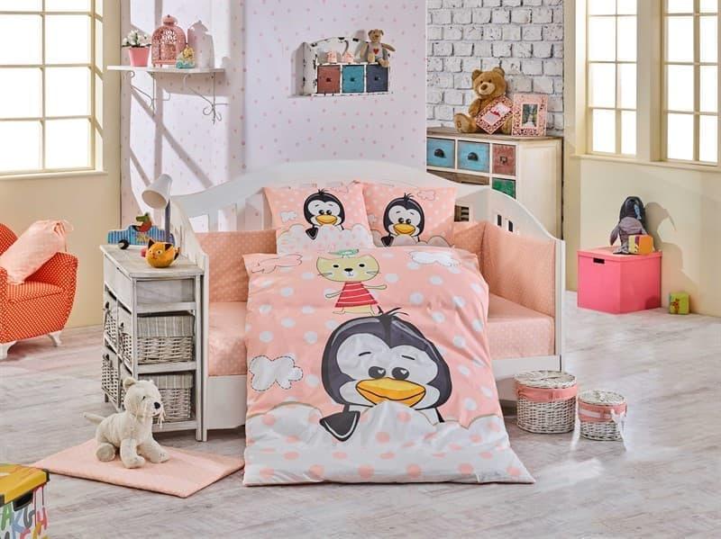 КПБ Hobby дит. Penguin персиковий 100*150/2*35*45 - фото 6236