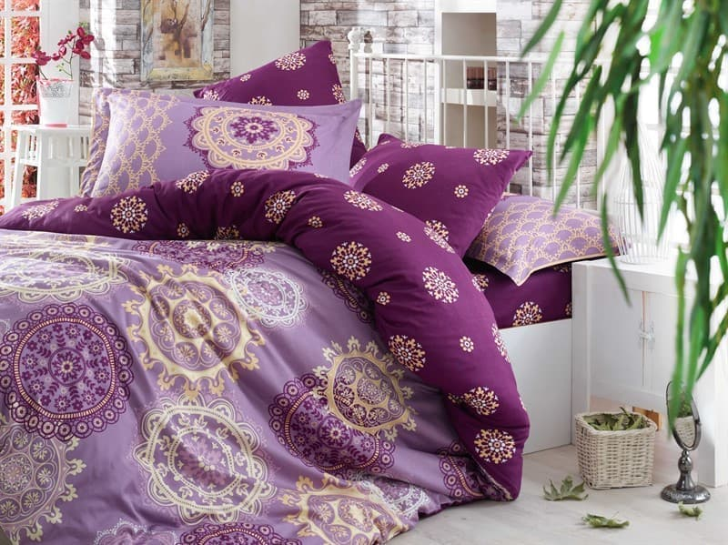 КПБ Hobby Exclusive Sateen Ottoman фіолетовий 2*160*220/2*50*70+2*70*70 - фото 6395