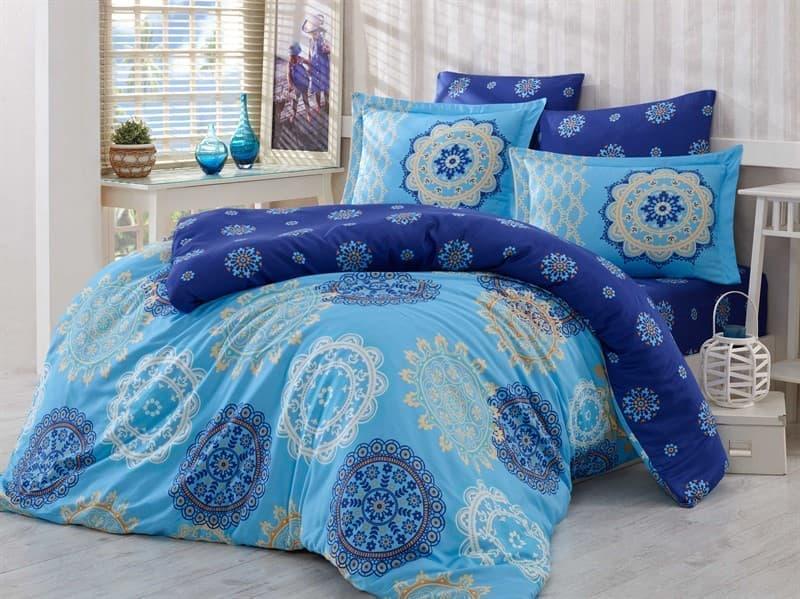 КПБ Hobby Exclusive Sateen Ottoman блакитний 2*160*220/4*50*70 - фото 6397