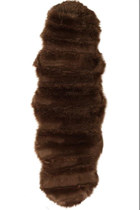 Килимок штучне хутро ALASKA POST 60*180 KAHVE - фото 6684