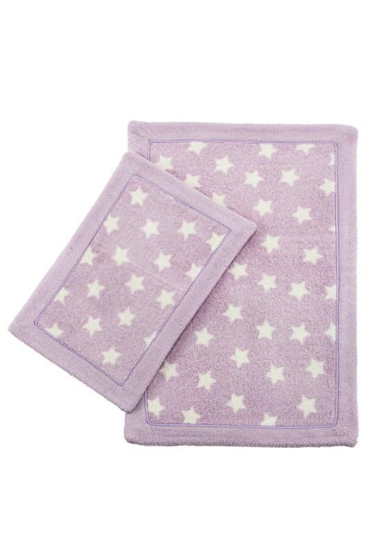 Набір килимків LUX SUFFY 40*60+60*90 YILDIZLI LILA - фото 6716