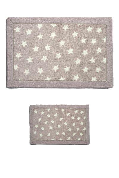 Набір килимків LUX SUFFY 40*60+60*90 YILDIZLI BEJ - фото 6719