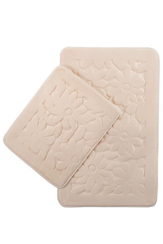 Набір килимків SAMOS 40*50+50*80 KREM PAPATYA - фото 6816