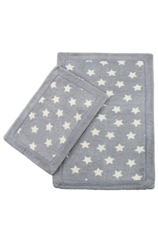 Набір килимків LUX SUFFY 40*60+60*90 YILDIZLI GRI - фото 6944