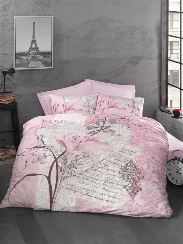 КПБ LP Ranforce ARTE BELLA рожевий 200*220/2*50*70 - фото 7015