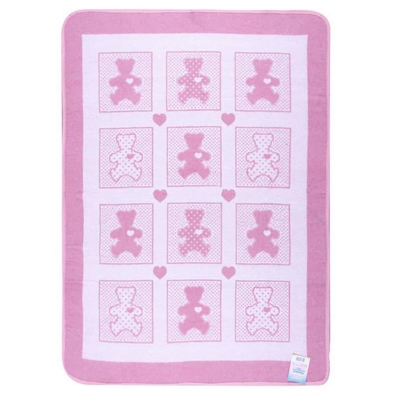 """Ковдра дитяча """"Барні"""" 100*140 рожевий - фото 7305"""