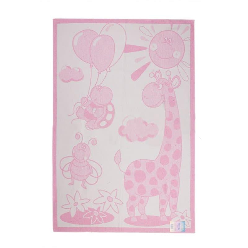 "Ковдра дит. ""Жираф"" 100*140 рожевий - фото 7309"