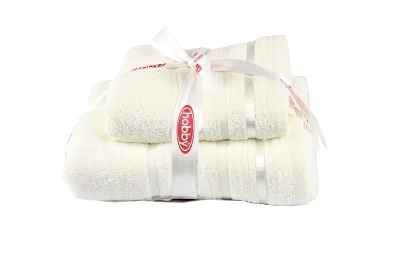 Набір рушників NISA молочний 50x90+70x140 - фото 8131