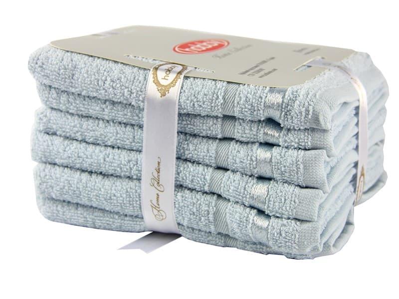 Набір рушників NISA блакитний  30*50 6шт. - фото 8284