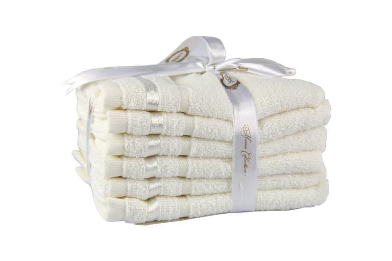 Набір рушників NISA молочний 30*50 6шт. - фото 8288