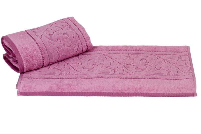 Рушник махр Sultan 50*90 рожевий 560г/м2 - фото 8590