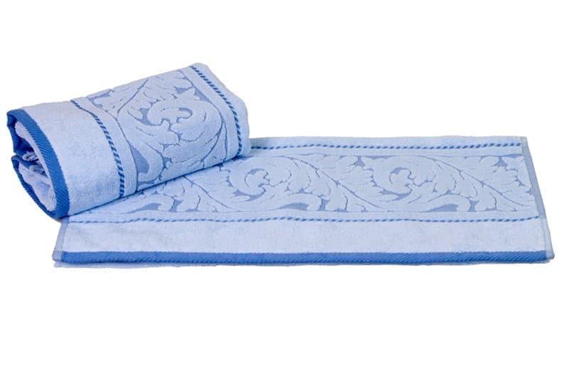 Рушник махровий Sultan 50*90 блакитний 560г/м2 - фото 8592