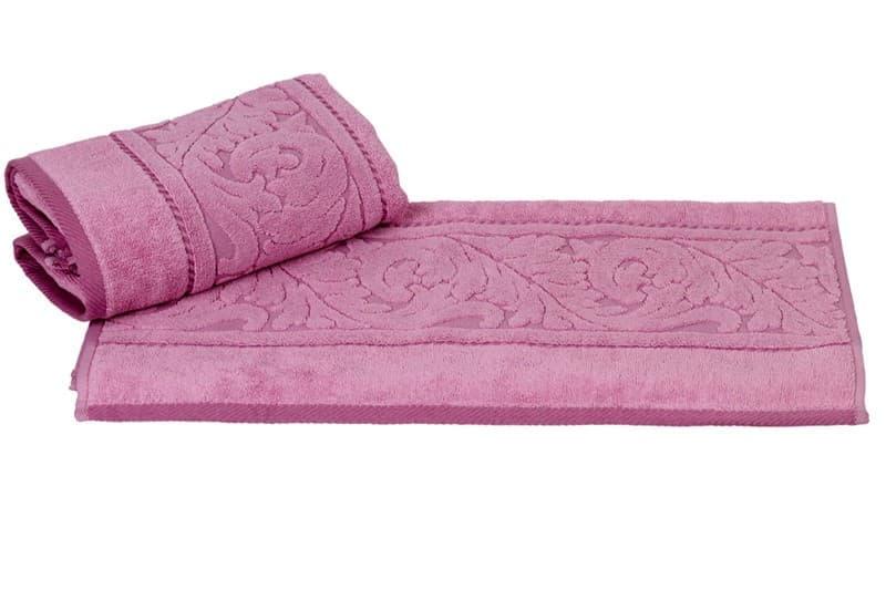 Рушник махр Sultan 70*140 рожевий 560г/м2 - фото 8686