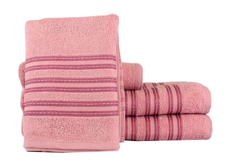 Рушник махровий Ares 50*90 т.рожевий 400г/м2 - фото 8962