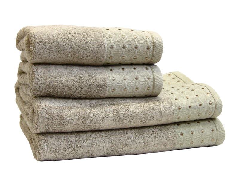 Рушник махр Bamboo Puan 70*140 т.бежевий 520г/м2 - фото 8975