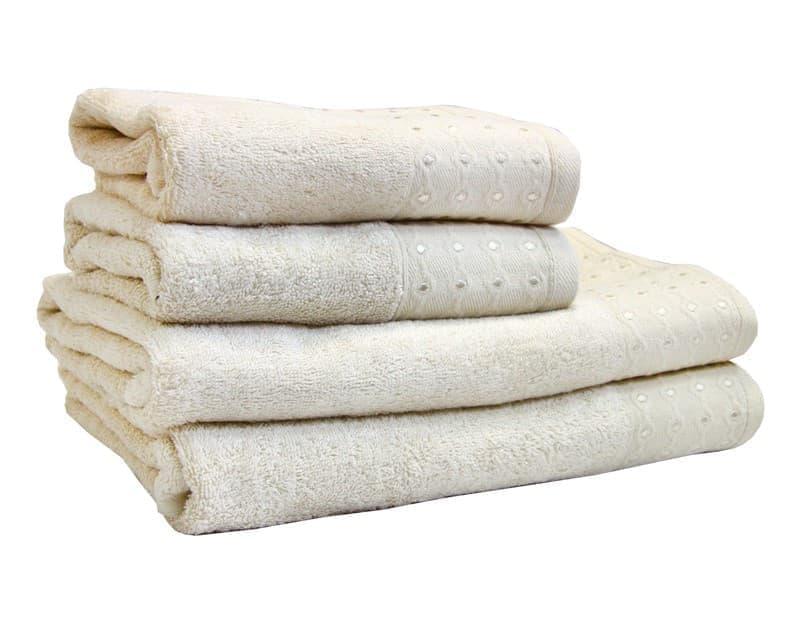 Рушник махр Bamboo Puan 50*90 св.бежевий 520г/м2 - фото 8996