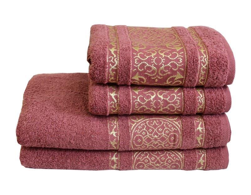 Рушник махровий Imperial 70*140 т.рожевий 480г/м2 - фото 9005