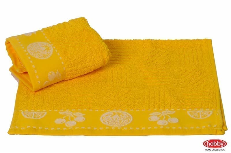 Рушник для кухні MEYVE 30*50 sari жовтий 430г/м2 - фото 9192