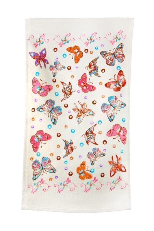 Рушник махровий Метелик 30*50 кольоровий 350г/м2 - фото 9287