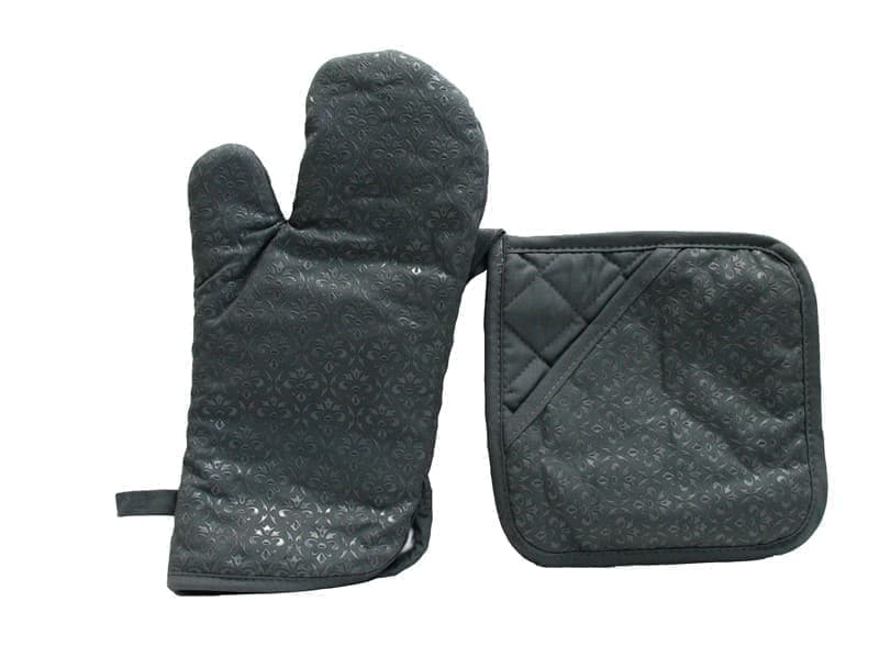 Набір д/кухні CHEF LUX прихватка + рукавиця силікон/бавовна SIYAH DESENLI - фото 9343