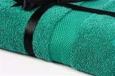 Набір рушник EURO SET Dark Green зелений 100*150 1шт. 500г/м2 - фото 10510