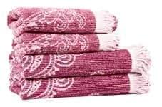 Рушник махровий Maisonette Lora 50*100 т.рожевий 450 г/м2 - фото 16361