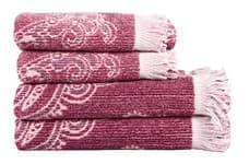 Рушник махровий Maisonette Lora 50*100 т.рожевий 450 г/м2 - фото 16363