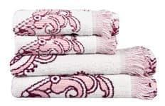Рушник махровий Maisonette Lora 50*100 т.рожевий 450 г/м2 - фото 16364