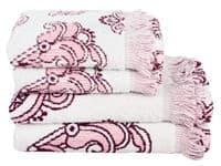 Рушник махровий Maisonette Lora 50*100 т.рожевий 450 г/м2 - фото 16365