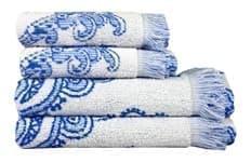 Рушник махр Maisonette Lora 70*140 блакитний 450 г/м2