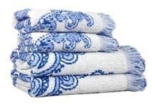 Рушник махр Maisonette Lora 70*140 блакитний 450 г/м2 - фото 16379