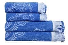 Рушник махр Maisonette Lora 70*140 блакитний 450 г/м2 - фото 16380