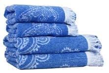 Рушник махр Maisonette Lora 70*140 блакитний 450 г/м2 - фото 16381