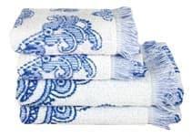 Рушник махр Maisonette Lora 70*140 блакитний 450 г/м2 - фото 16383
