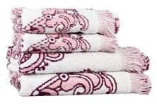 Рушник махр Maisonette Lora 70*140 т.рожевий 450 г/м2