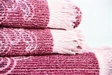 Рушник махр Maisonette Lora 70*140 т.рожевий 450 г/м2 - фото 16400