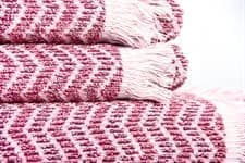 Рушник махр Maisonette Lord 50*100 т.рожевий 450 г/м2 - фото 16436