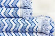 Рушник махровий Maisonette Lord 70*140 блакитний 450 г/м2 - фото 16452