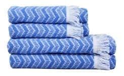 Рушник махровий Maisonette Lord 70*140 блакитний 450 г/м2 - фото 16453
