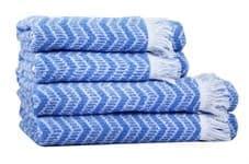 Рушник махровий Maisonette Lord 70*140 блакитний 450 г/м2 - фото 16454