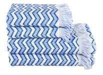 Рушник махровий Maisonette Lord 70*140 блакитний 450 г/м2 - фото 16458