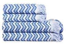Рушник махровий Maisonette Lord 70*140 блакитний 450 г/м2 - фото 16459