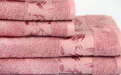 Рушник махровий Maisonette Bamboo 30*50 т.рожевий 500 г/м2 - фото 17069