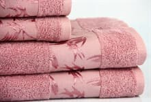Рушник махровий Maisonette Bamboo 30*50 т.рожевий 500 г/м2 - фото 17070